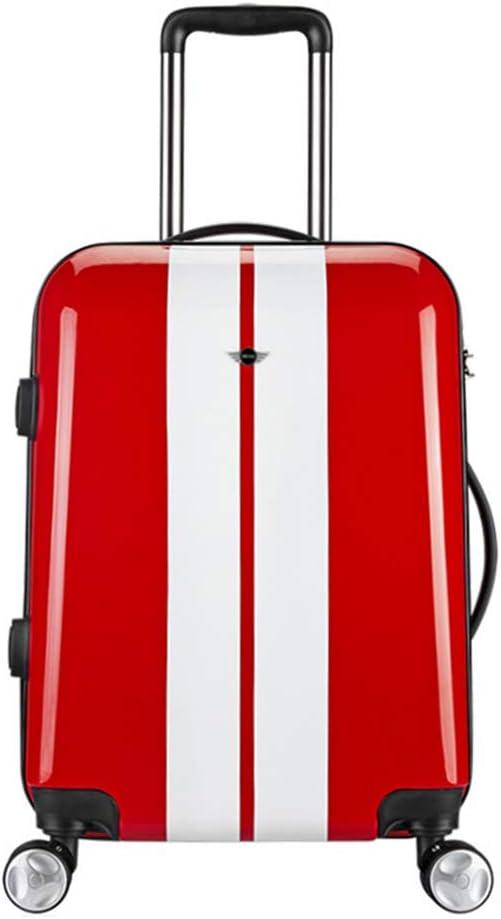 WODENINEK Mini Maleta de 20 Pulgadas Material de PC Maleta con Ruedas para Viajes de Negocios Ultra Ligero Maleta de Equipaje de Mano,E,20Inch