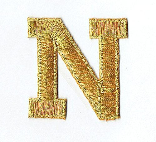 Alphabet Letter - N- Color Gold - 2