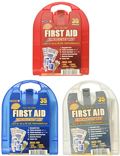 (Rapid Care First Aid 80005 35 Piece All-In-One First Aid Kit, Assortment Set of 3 (Total 105 Pieces))