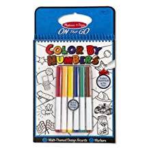 Melissa & Doug On the Go Color by Numbers Kids' Design Boards: Playtime, Construction, Sports, and More