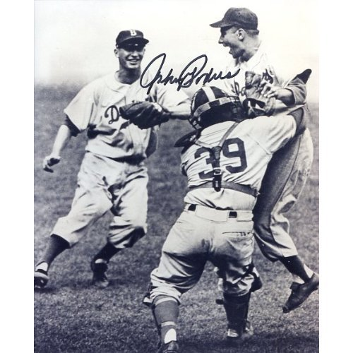 - Johnny Podres (Dec 2008) Autographed/Original Signed 8x10 Celebration Photo After Shutting Out the New York Yankees in the 1955 World Series Giving the Brooklyn Dodgers Their Only W.S. Championship