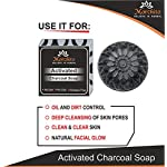 Mahalaxmi Creation Morchito Activated Charcoal Soap For Women Skin Whitening, Natural Detox Face & Body Soap for Acne…