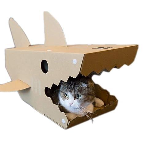 X&MX Casa del Gato Acanalada Casa del Gato Juguete del Gato Reciclable Cartulina Asamblea De Bricolaje