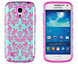 samsung galaxy 4 mini pink - DandyCase 2in1 Hybrid High Impact Hard Sea Green Flower Pattern + Pink Silicone Case Cover For Samsung Galaxy S4 Mini i9190 + DandyCase Screen Cleaner