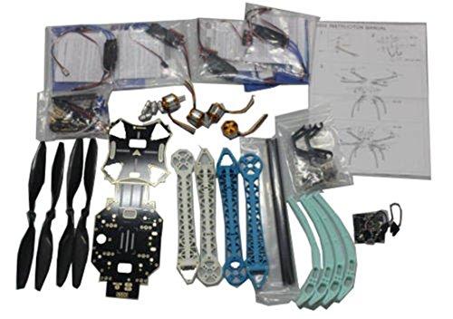 QWinOut 500mm Multi-Rotor Air Frame Kit S500 with Landing Gear + ESC + Motor + KK Flight Control Board + CF Propellers