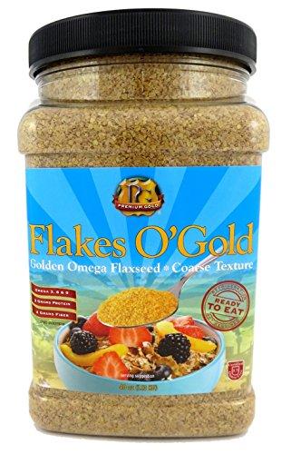 Premium Gold Ground Flax Seed | High Fiber Food | Omega 3 | 40oz 6pk