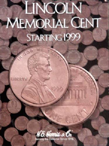 Lincoln Memorial Cent#2 Coin Folder 1999-2008 by H.E. HARRIS He Harris Coin Folders