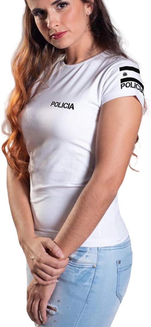 Aircops Camiseta Policia Manga Corta Mujer: Amazon.es: Ropa y accesorios