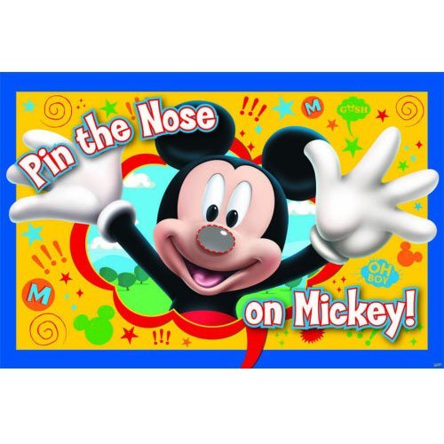 Mickey Party Game, Pin The Nose on Mickey, (Mickey Mouse Halloween Birthday Party)