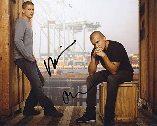 Prison Break   Wentworth Miller   Dominic Purcell Signed Autographed 8 X 10 Photo