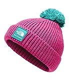 The North Face Baby Box Logo Pom Beanie - Azalea Pink & Mint Blue - XXS