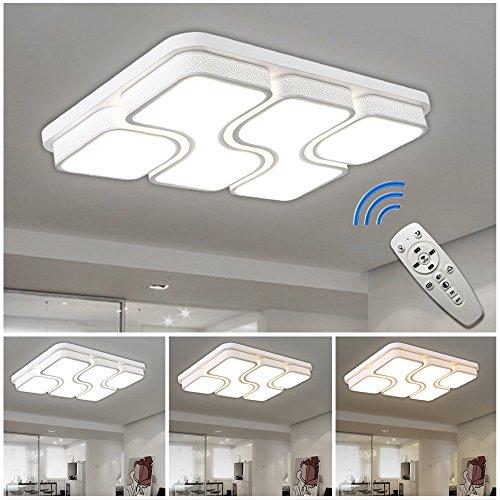 HGR 64W LED Deckenlampe Deckenleuchte Design Dimmbar Wohnzimmer Beleuchtung Wandleuchte Mit FB Amazonde