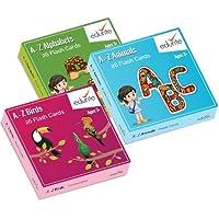 Edurite Educational Flash Cards Combo (Alphabets, Birds & Animals)