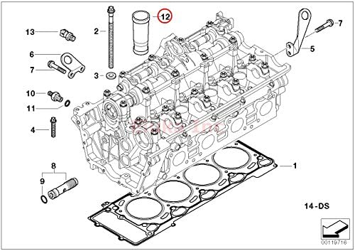 Amazon.com: BMW Engine Cylinder Ignition Spark Plug Tube E53 E60 E60N E63  E63N E64 E64N E65 X5 4.4i X5 4.8is 545i 550i 550i 645Ci 650i 650i 645Ci  650i 650i 745i 750i 760iAmazon.com