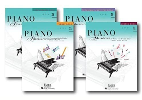 piano adventures level 3a set four book set lesson theory technique artistry performance books