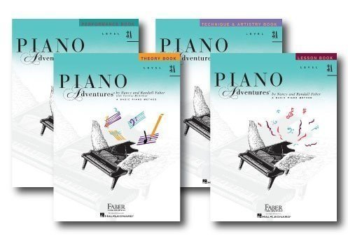Faber Piano Adventures Level 3A Learning Library Pack Four Book Set - Lesson, Theory, Performance, and Technique & Artistry Books