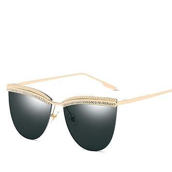 OME&QIUMEI Gafas De Sol Semi-Sin Montura para Mujer Gafas ...