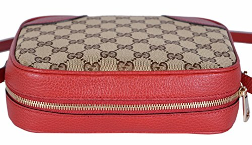 8ff543e06c3 Gucci Women s Canvas Leather GG Guccissima Small Bree Crossbody Purse ...