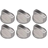 Liuer 6PCS Metal Universal 8mm Silver Gas Estufa