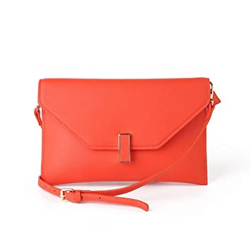 Cartera de Mano, Bandolera de señora Clutch Fashion Shoulder Fashion Cross (Color : Orange, tamaño : Talla única): Amazon.es: Hogar