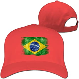 NDJHEH Gorras béisbol Brazil Brasil Distressed Flag Mens Snapback Baseball Cap Hip-Hop Durable Cotton Polo Hat
