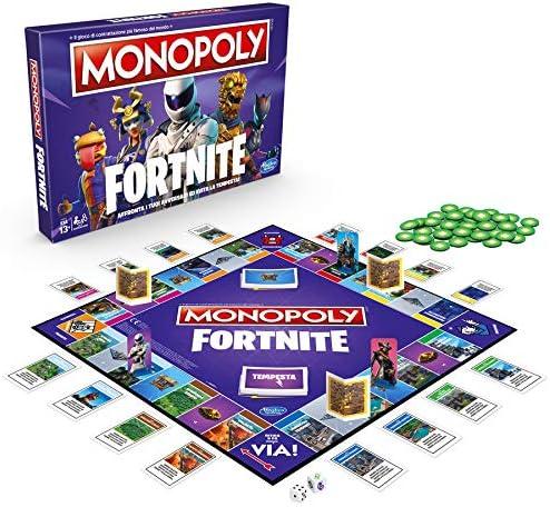 Hasbro - Juego de Mesa Monopoly, edición Fortnite, Idioma español no garantizado Versión en Italiano Multicolor: Amazon.es: Juguetes y juegos