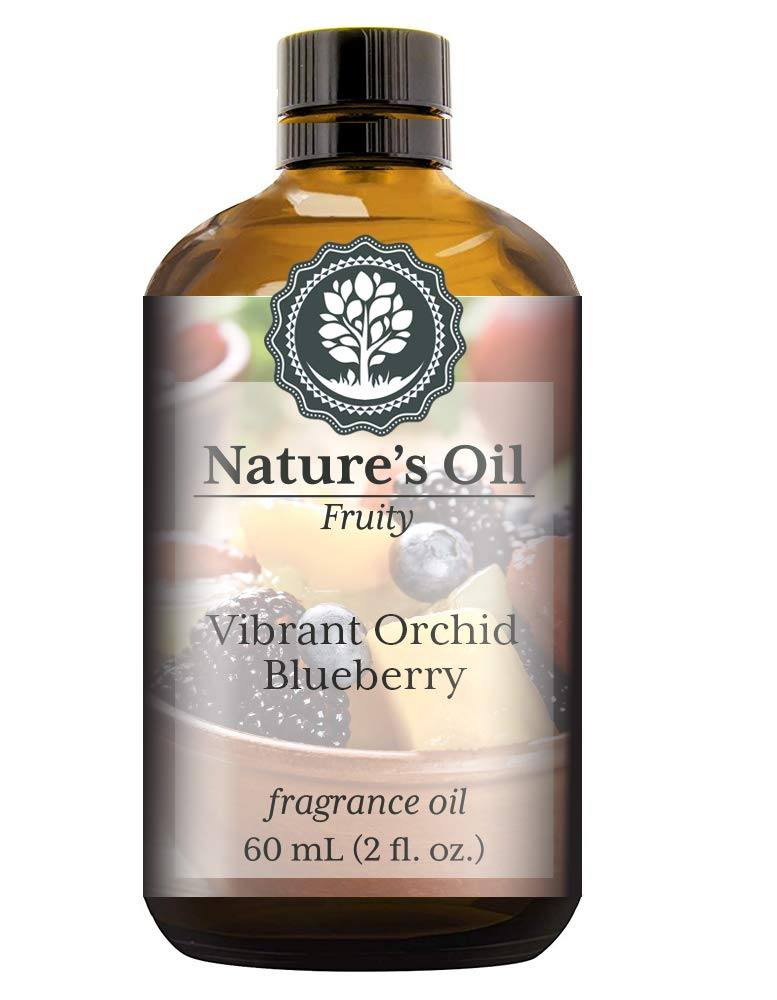 Vibrant Orchid Blueberry Fragrance Oil (60ml) For Diffusers, Soap Making, Candles, Lotion, Home Scents, Linen Spray, Bath Bombs, Slime