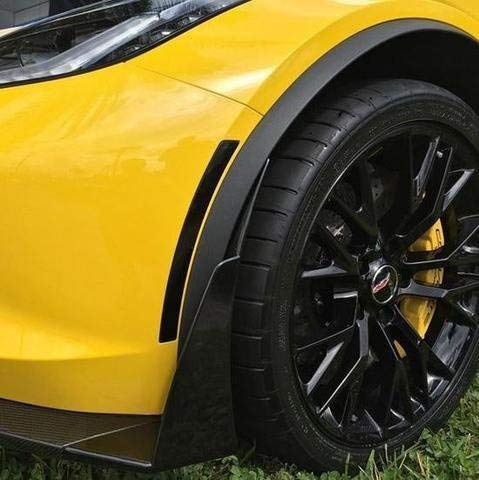 C7 Corvette Stingray, Grand Sport, Z06, ZR1 Blacked Out, Darkened LED Side Markers OEM Quality and Standards Complete Replacement Kit (Black)
