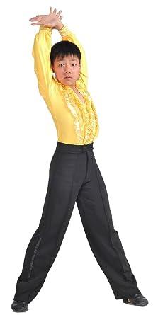 17af4a051 KINDOYO Danza Latina Ropa de Entrenamiento para Danza Ballet Camisa  Pantalones Niño traje
