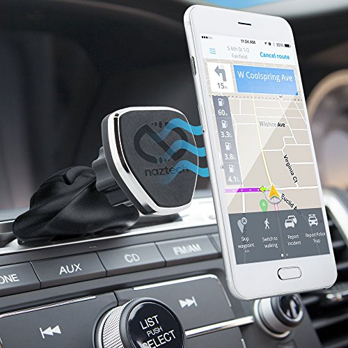 Naztech MagBuddy Magnetic CD Slot, Car Phone Mount. Fully Adjustable Holder For Hands-free Phone Calls and GPS Use, Compatible for iPhone X/8/ 8 Plus, Samsung S9/S9+, Note8, Smartphones & More (Black)