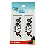 2 Pack White Pingu Magnetic Bookmark Clips