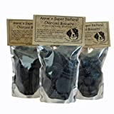 Annie's Organic Activated Charcoal Natural Dog Biscuits, 8oz Healthy, Homemade, Bad Breath Stomach Gas, Smelly Dogs.