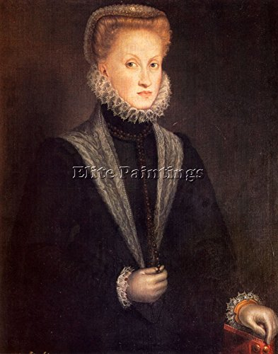 ANGUISCIOLA SOFONISBA ANNE AUSTRIA QUEEN SPAIN ARTIST PAINTING OIL CANVAS REPRO 48x40inch MUSEUM QUALITY by Elite-Paintings