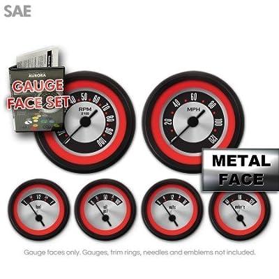 Aurora Instruments (GARFE5) American Retro Rodder Gauge Face Set
