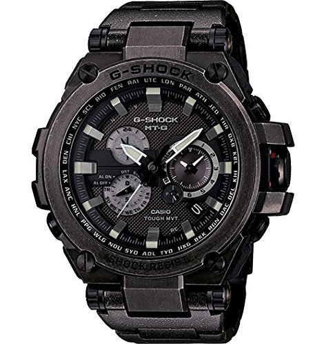 Casio - G-Shock - MT-G Series - Tough Solar Powered Dual World Time Analog Steel Watch - MTGS1000V-1A