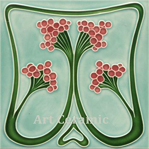 - Art Nouveau Ceramic Tile 6 Inches Reproducction #0036