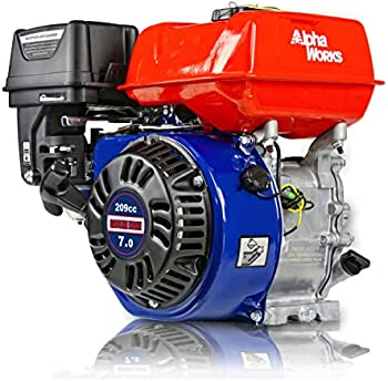 AlphaWorks 7HP 209cc Horizontal Cylinder 4 Stroke OHV Gas Engine