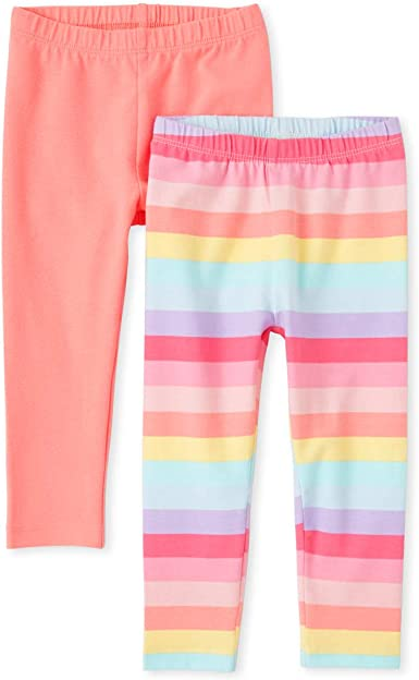 The Childrens Place Baby Girls Leggings Pack of Two
