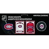 Frameworth Montreal Canadiens 4-Piece Magnet Set Team Logo, Black