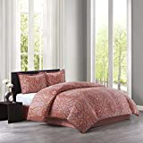 Echo Design Aberdeen Comforter Set, Full, Madder Red