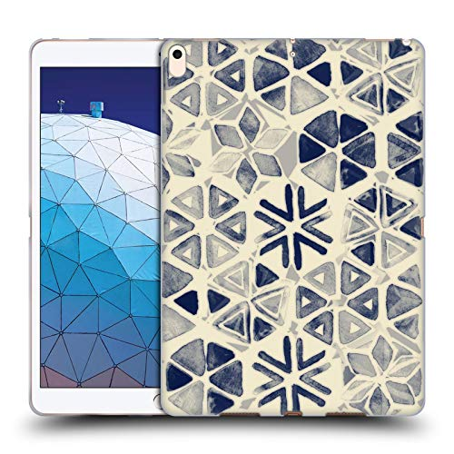 Official Micklyn Le Feuvre Hand Painted Triangle and Honeycomb Ink Patterns 3 Soft Gel Case Compatible for iPad Air - Hand Triangle Painted
