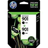 HP 901 Black Original Ink Cartridges, 2 pack (CZ075FN)
