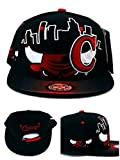 Chicago New Leader Bull Head Skyline Bulls Colors Black Red Era Snapback Hat Cap