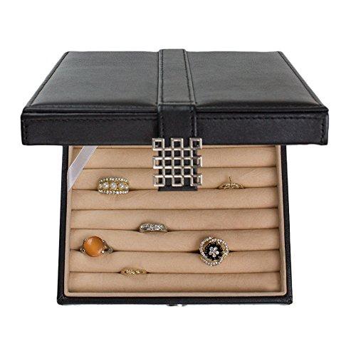 234778dcd Glenor Co Ring Box Organizer - 54 Slot Classic Jewelry Display - Import It  All