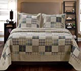 Best Greenland Homes - Greenland Home 3-Piece Oxford Quilt Set, King, Multicolor Review