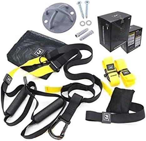 Fitness FSSSPXMG Kit Suspension Strap Correas Entrenamiento de Resistencia + Soporte de Anclaje de Acero Reforzado Trainer Nylon Band