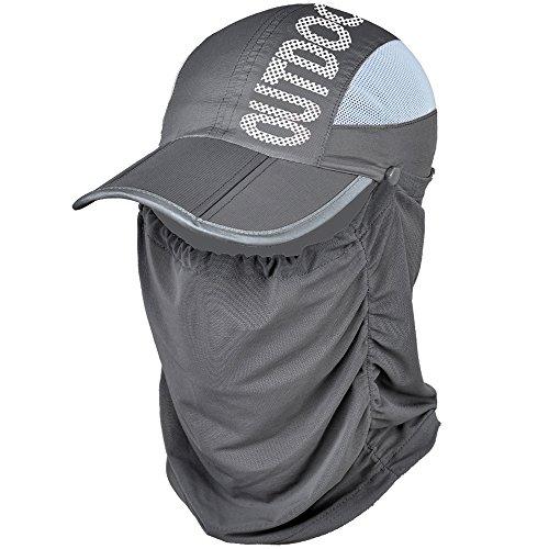 EIGER HORN 帽子 ゴルフ レディース フェイスカバー 付き【 UVカット99% UPF50+ 】