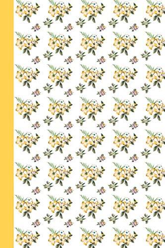Sketchbook: Watercolor Yellow Flowers 6x9 - BLANK