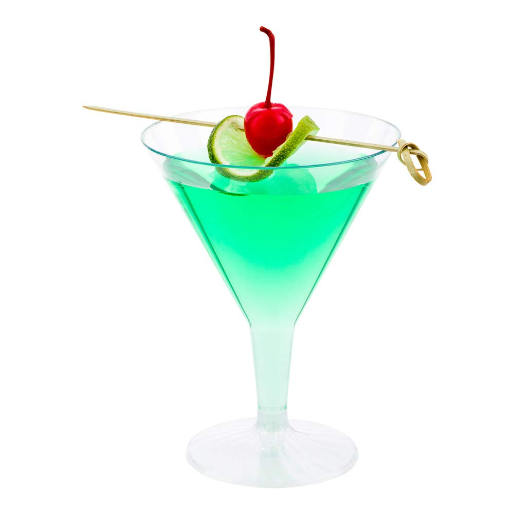 Plastic Martini Glass, Disposable Martini Glasses - Crystal Clear Premium Plastic - 7.5 oz - 100ct Box - Restaurantware