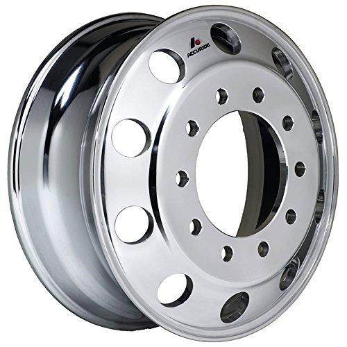 Accuride 24.5'' x 8.25'' Aluminum 10 Lug on 285mm Semi-Polished Wheel (41362SP) by Accuride